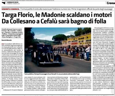 Targa Florio, le Madonie scaldano i motori.  Da Collesano a Cefalù sarà bagno di folla.