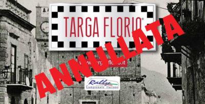 Annullata la parte competitiva della 101^ Targa Florio