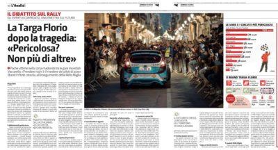 """""""la Targa Florio la gara meno pericolosa di sempre""""   (dal Gds di oggi)"""