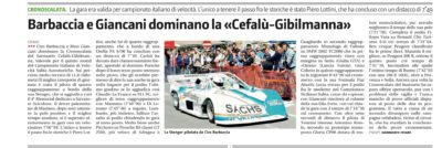 Barcaccia e Giancani dominano la «Cefalù-Gibilmanna»