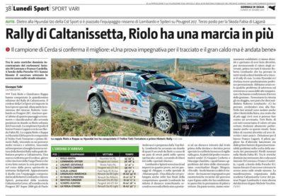 Rally di Caltanissetta, Riolo ha un marcia in più