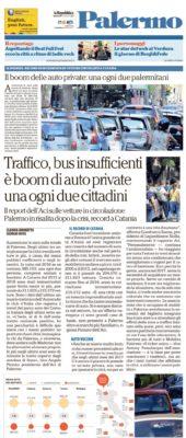 SU REPUBBLICA le statistiche nazionali ACI sul parco auto circolante relative alla Sicilia.