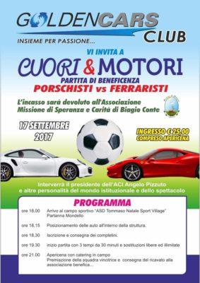 """L'iniziativa """"Cuori & Motori"""", promossa da GOLDENCARS, quest'anno beneficiera' la missione """"Speranza e Carita'"""" di Biagio Conte"""