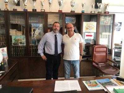 Visita in sede di Benedetto Cintura, Presidente del CRAL Trinacria