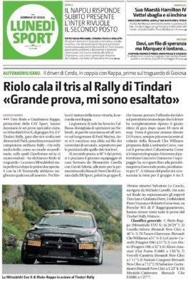 Ruolo cala il tris al Rally di Tindari