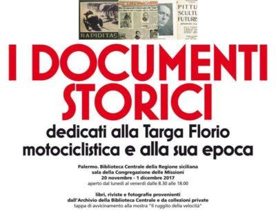 DOCUMeNTI STORICI dedicati alla Targa Florio motociclistica e alla sua epoca