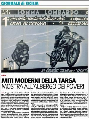 """Anche sul Giornale di Sicilia si parla della mostra """"IL RUGGITO DELLA VELOCITA'"""" sulla Targa Florio Motociclistica"""