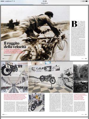 """Su I LOVE SICILIA in edicola una pagina patinata dedicata alla mostra """"IL RUGGITO DELLA VELOCITA', MITI E STORIE DELLA TARGA FLORIO MOTOCICLISTICA"""","""