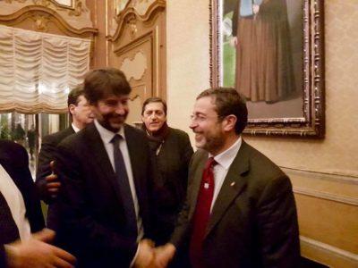 UNA GRANDE EMOZIONE accogliere, con il Ministro dei Beni Culturali Dario Franceschini, il dipinto di Donna Franca Florio
