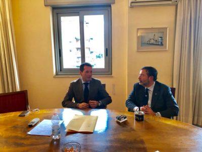 OGGI INTERESSANTE INCONTRO con l'assessore regionale al turismo e sport Sandro Pappalardo