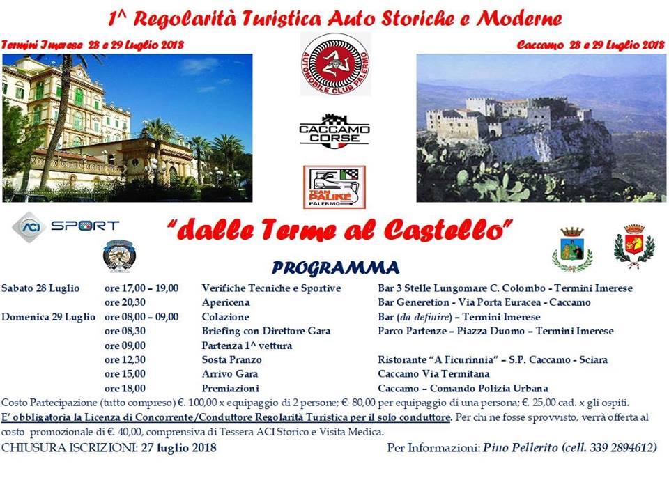 Aci Sport Calendario.Dalle Terme Al Castello Automobile Club Palermo