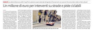 Inclusione dei circuiti storici della Targa Florio e delle Tribune di Floriopoli nel patrimonio storici e culturale della Sicilia