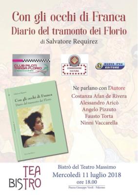 """A voi, """"Con gli occhi di Franca. Diario del tramonto dei Florio"""", di Salvatore Requirez."""
