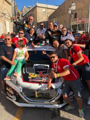 TOTO' RIOLO navigato da Gianfranco Rappa vince il 1^ Himera Rally su Peugeot 208 T16 (43,07.3).